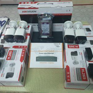 Trọn bộ 8 camera IP POE HIKVISION